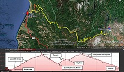 Rail Route 1, Blue Lake to Redding