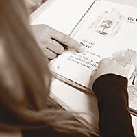 Reading at Strongbridge Montessory School. Photo by Yulia Weeks.