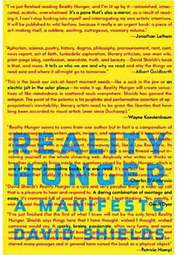 Reality Hunger: A Manifesto