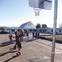 Charter School Rift Redwood Prep students at recess. Photo by Ryan Burns