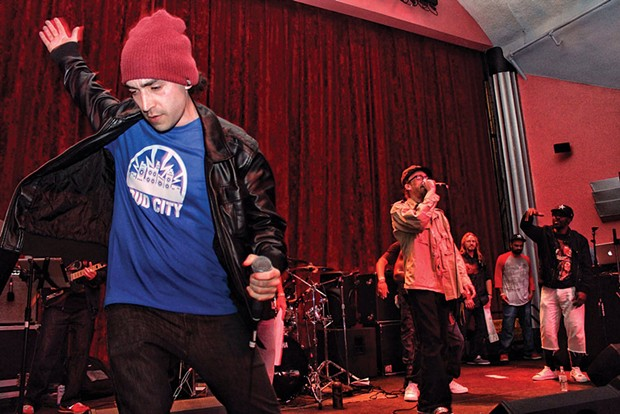 Reggae lyricists Bobby Hustle and Rocker-T trade verses at a GMO Free Humboldt Benefit Saturday, March 15 at The Arcata Theatre Lounge. - PHOTOS BY BOB DORAN