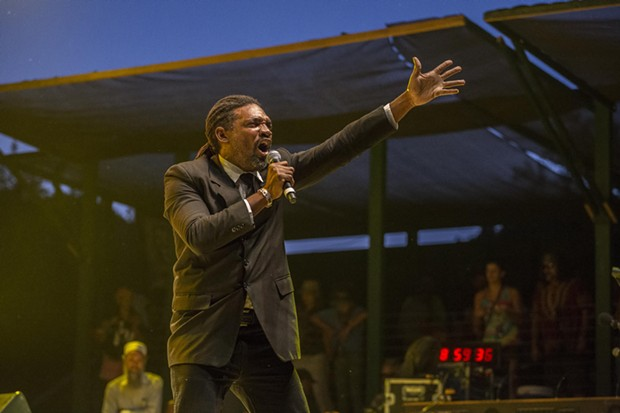 "Peter ""Peter G"" Gayle performing with Sly & Robbie and the Taxi Gang at the 30th Annual Reggae On The River 2014, Friday Aug. 1."