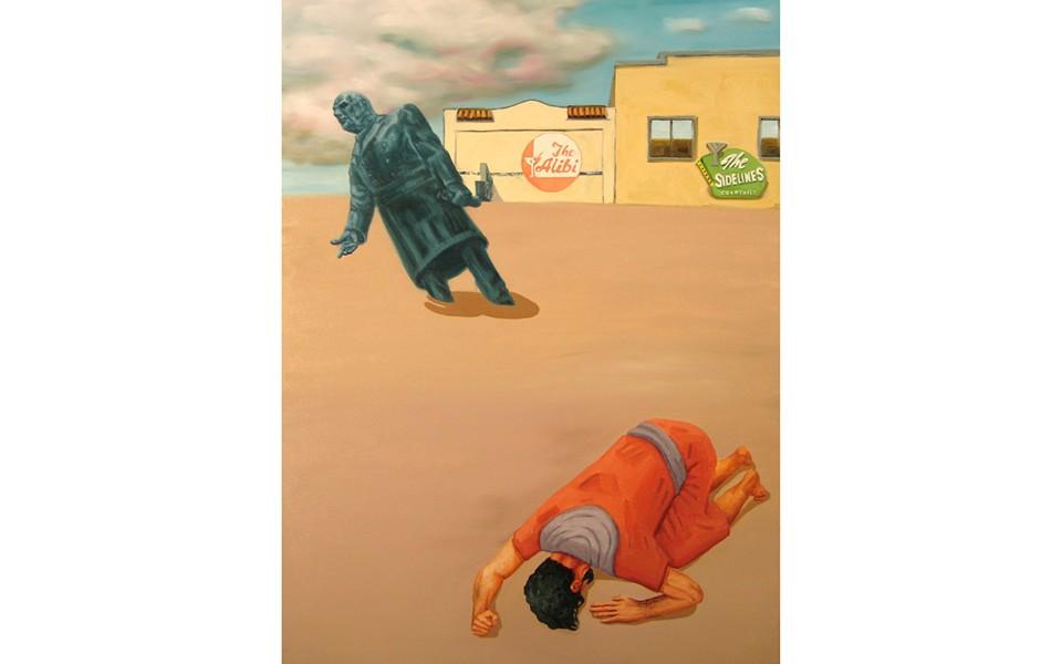 """""""Return to Eden Part 2"""", Jesse Wiedel, oil on canvas, 30"""" x 40"""""""