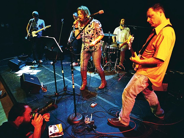 Reunited after a decade, The Cutters play a raucous set at the Arcata Playhouse on Thursday, June 12. - PHOTO BY BOB DORAN