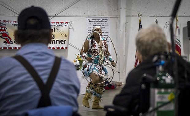 Sage Romero performs the Hoop dance. - MANUEL J. ORBEGOZO