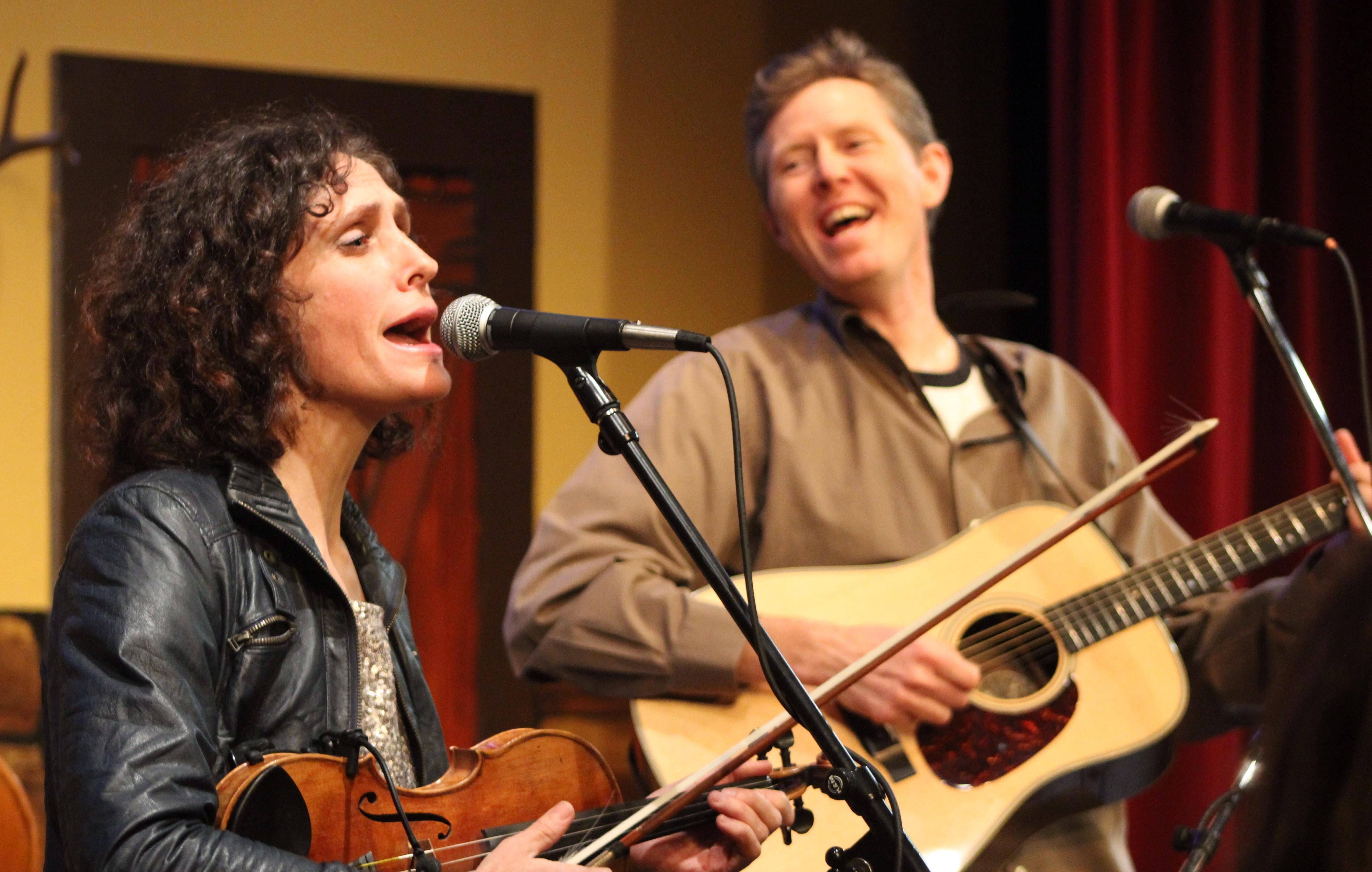 Scheinman and Robbie Fulks share the stage. - BOB DORAN