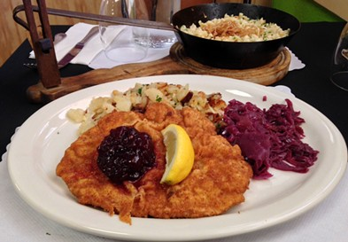 Schnitzel with a squeeze of lemon. - JENNIFER FUMIKO CAHILL