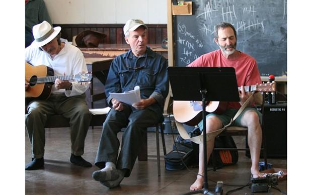 Seabury Gould (right) and Joel Sonenshein lead last year's Beatles Sing-along - PHOTO BY BOB DORAN