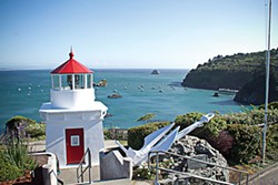 Seaside Trinidad's lighthouse memorial. - PHOTOS BY TERRENCE MCNALLY