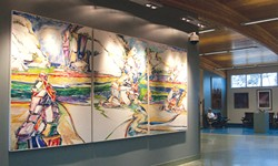See Thomas Klapproth's triptych at the airport when you're not bleary-eyed from travel.