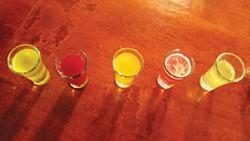 PHOTO BY NATALIE ARROYO - Shots, shots, shots of infused kombucha.