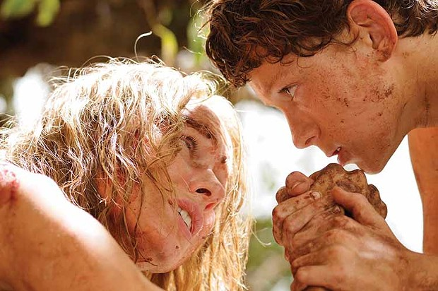 """Son, this is no time to arm wrestle."" Naomi Watts and Tom Holland in The Impossible."