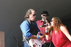 PHOTOS BY BOB DORAN - St. John and the Sinners Featuring Courtney Weaver, Blues By The Bay 2009.