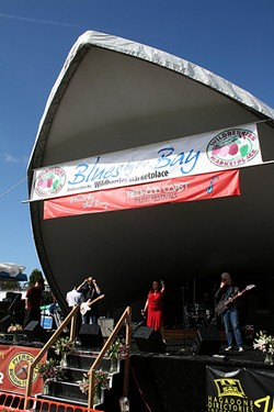 St. John and the Sinners on Blues by the Bay's $10,000 stage. - BOB DORAN