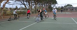 "PHOTO BY JOSEPHINE JOHNSON - ""Steering and gearing"" on the court."