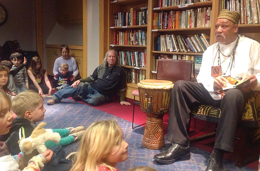 Storyteller Baba Jamal Koram presents a program of African tales for kids and parents at the Eureka Library. - PHOTO BY BOB DORAN