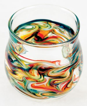 Hand-blown glassware from Mirador Glass.