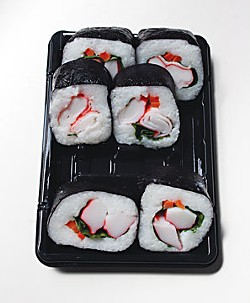 Supermarket sushi. Photo by Bob Doran.