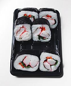 Supermarket sushi. Photo by Bob Doran.