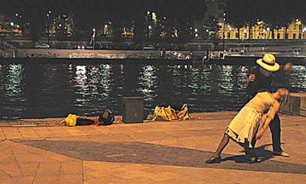 Tango in Paris by the Seine. Photo by Bob Doran