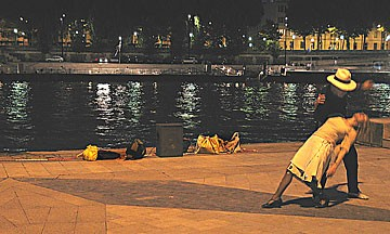 Tango in Paris by the Seine. Photo by Bob Doran