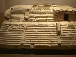PHOTO BY BARRY EVANS - Ten-inch high model of Niha Beqaa temple, National Museum of Lebanon.