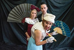 PHOTO BY ANTHONY ARNISTA. - That Sinking Sensation: A Tragicomedy. Allie Menzimer, Andrew Eldredge, Emily Newton.