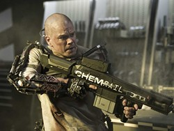 That t-shirt must be gettin' stinky. Matt Damon in Elysium.