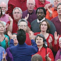 Stumped The Arcata Interfaith Gospel Choir. Photo by Bob Doran.