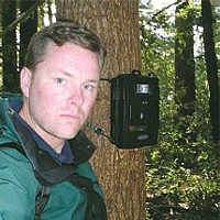 BIGFOOT TRAPPED BY NORCAL FANATIC! The author and his game-cam. The trap is set.