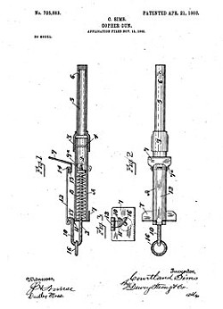 The breech-loading Gopher Gun, patented April 21, 1903 by Courtland Sims.