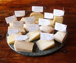 PHOTO BY DARIUS BROTMAN - the cheeses