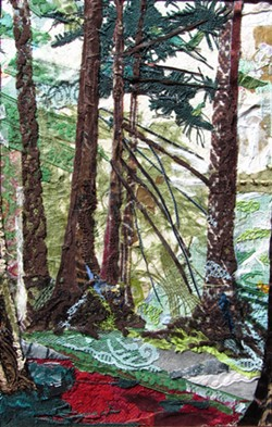 """The Community Forest"" was created by Anastasia Zielinski, who will demonstrate collage techniques at Blake's Books."