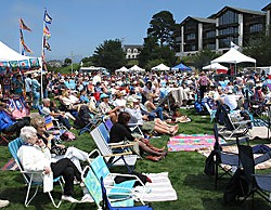 The crowd at Blues by the Bay, Vol. 11. Photo by Bob Doran.
