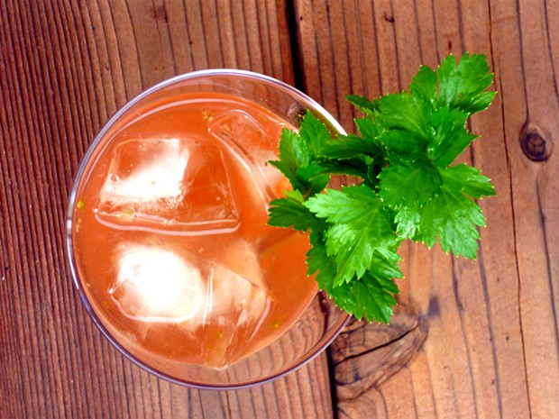 The Farmers' Market with Redventure garnish - PHOTO BY AMY STEWART