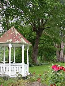 The Fern Cottage gazebo and garden. Photo by Amy Stewart.