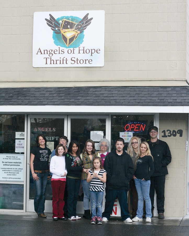 the friendly faces of Angels of Hope thrift store - PHOTO BY BOB DORAN