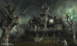 "COURTESY OF DANIELE MONTELLA/DAN-KA.COM/COPYRIGHT 2004 - ""The Haunted House"" by Italian graphic artist Daniele Montella."