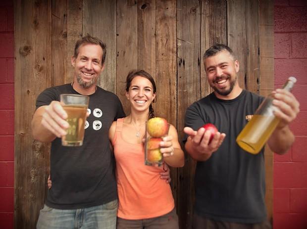 The Humboldt Cider Co. gang. - MALCOLM DESOTO