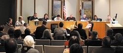 PHOTO BY THADEUS GREENSON - The Humboldt County Planning Commission.