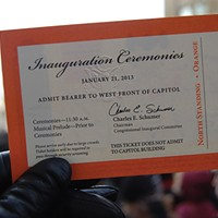Thronging to the Inaugural The invitation! Photo by Andrew Goff