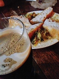 PHOTO BY DREW HYLAND - the Kraut Plate at Siren's Song Tavern