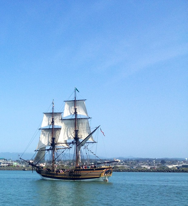 The Lady Washington in Eureka. - PHOTO BY HEIDI WALTERS