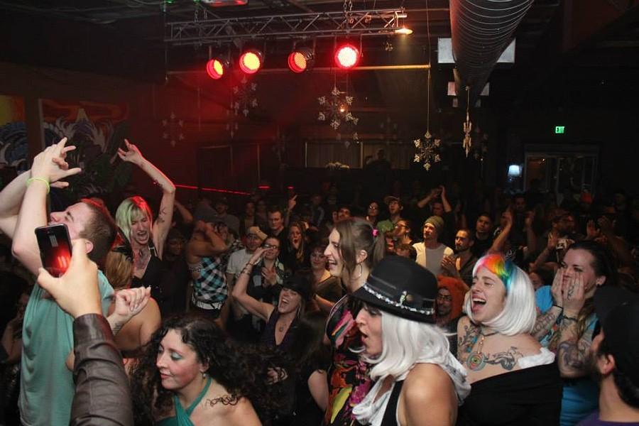The Last Whomp party at Eureka's now-defunct Nocturnum nightclub. - PHOTO BY BOB DORAN