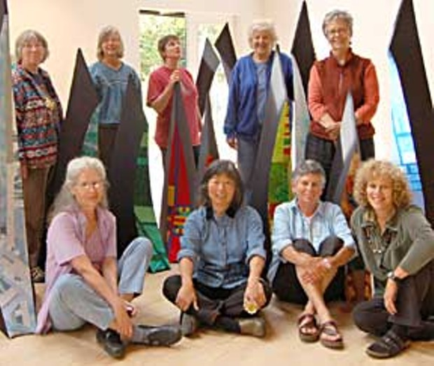 The Seven + group, from left to right, back row: Marie Kelleher-Roy, Nancy Head, Barbara Dolan-Wilkinson, Tina Rousselot and Kathleen Zeppegno: front row; Iris Schencke, Amy Uyeki, Lori Goodman and Lorraine Miller-Wolf.