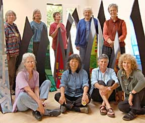 The Seven + group, from left to right, back row: Marie Kelleher-Roy, Nancy Head, Barbara Dolan-Wilkinson, Tina Rousselot and Kathleen Zeppegno: front row; Iris Schencke, Amy Uyeki, Lori Goodman and Lorraine Miller-Wolf.