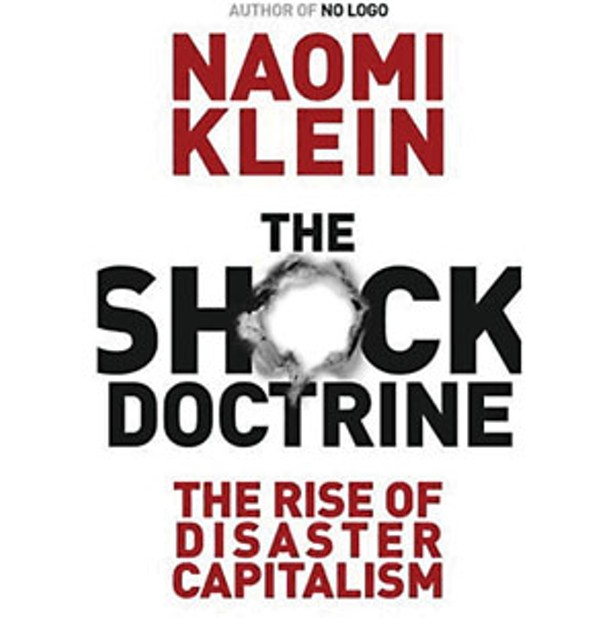 main thesis of the shock doctrine Naomi klein's the shock doctrine ties together history, economics, globalization, natural disasters and geopolitics into one bleak picture klein's thesis is.