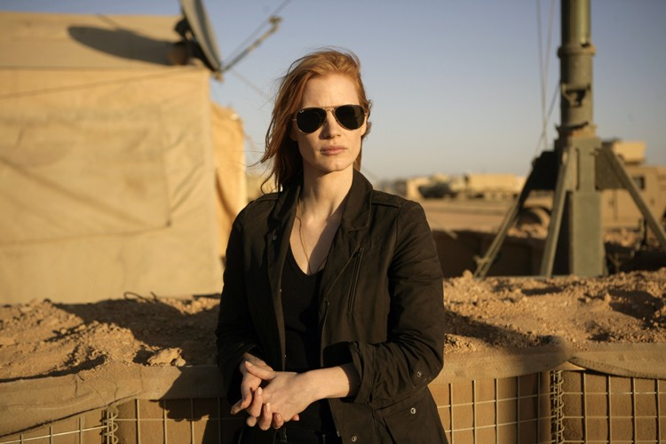 They have DirecTV at Bagram Airfield? Jessica Chastain in Zero Dark Thirty.
