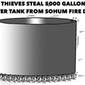 Thieves Steal Water Tank