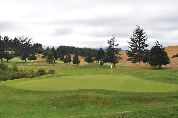 Thirteenth green at Redwood Empire. - PAMELA LONG